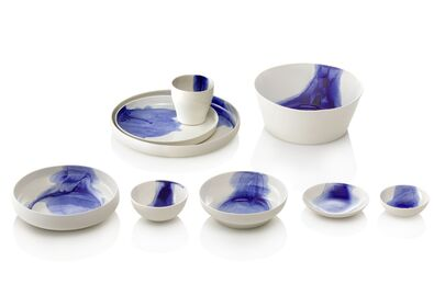 CUT BLUE | tableware